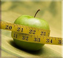 Apple and Tape Measure Graphic